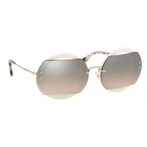 نظارة شمسية ايفوري مستديرة من ميوميو للنساء - MU06SS