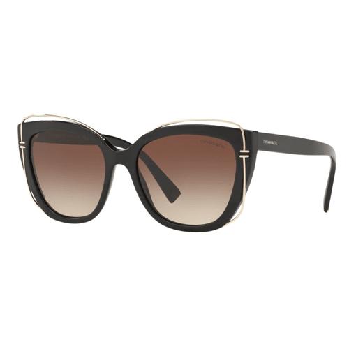نظارة شمسية سوداء كات ايز من تيفاني آند كو للنساء - TF4148