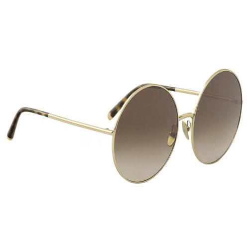 نظارة شمسية بإطار ذهبي من دولتشي اند جابانا للنساء - DG2198