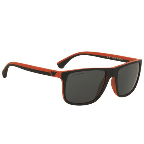 نظارة شمسية بإطار برتقالي من ارماني للرجال - EA4033