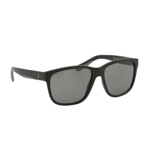 نظارة شمسية بإطار اسود من رالف لورين للرجال - PH4142