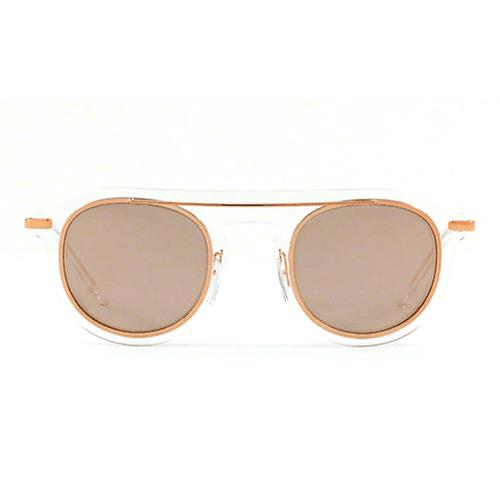 نظارة شمسية مستديرة عاكسة روز جولد من دولتشي اند جابانا - DG2169
