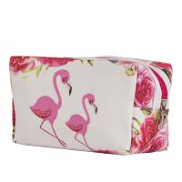 حقيبة مكياج - ابيض و وردي