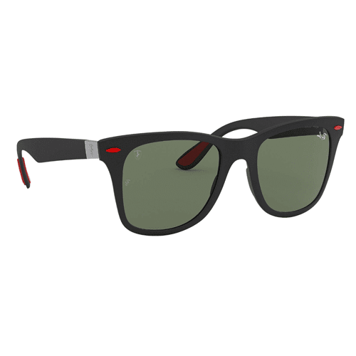 5321d1a88 نظارة شمسية مربعة اسود و أحمر من راي بان فيراري للرجال - RB4195M ...