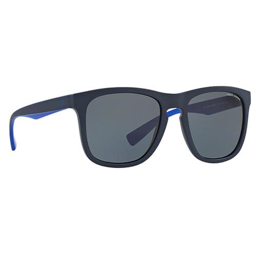 نظارة شمسية أزرق غامق مطفي من ارماني اكستشينج للرجال - AX4058S
