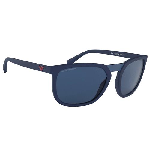 نظارة شمسية بإطار أزرق مطفي من ارماني للرجال - EA4123